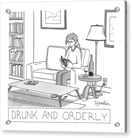 Drunk And Orderly -- A Woman Reads A Book Acrylic Print