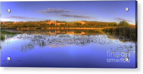 Dune Climb At Sunrise Acrylic Print by Twenty Two North Photography