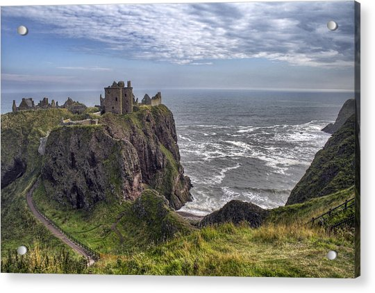 Acrylic Print featuring the photograph Dunnottar Castle And The Scotland Coast by Jason Politte