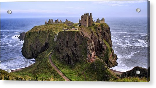 Acrylic Print featuring the photograph Dunnottar Castle Panorama by Jason Politte