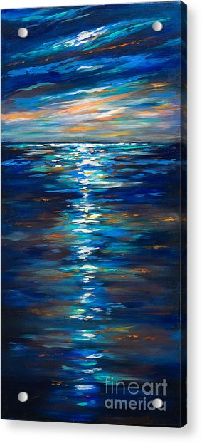 Dusk On The Ocean Acrylic Print