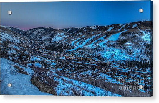 Dusk Setting In The Vail Valley Acrylic Print