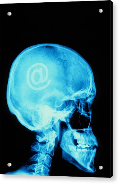 E-mail Acrylic Print by Alfred Pasieka/science Photo Library