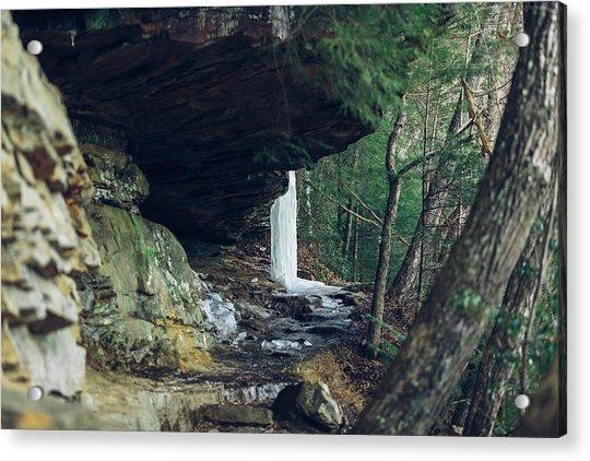 Eaglefalls Trail In Winter Acrylic Print