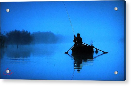 Acrylic Print featuring the photograph Early Morning Fishing  by Colette V Hera  Guggenheim