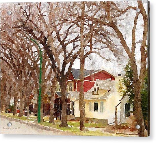 Early Spring Street Acrylic Print