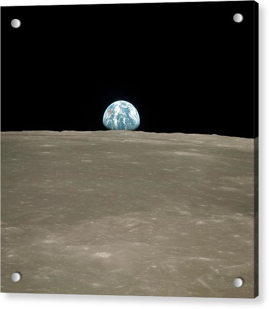 Earthrise Over Moon Acrylic Print
