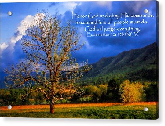 Ecclesiastes 12 - 13b Acrylic Print