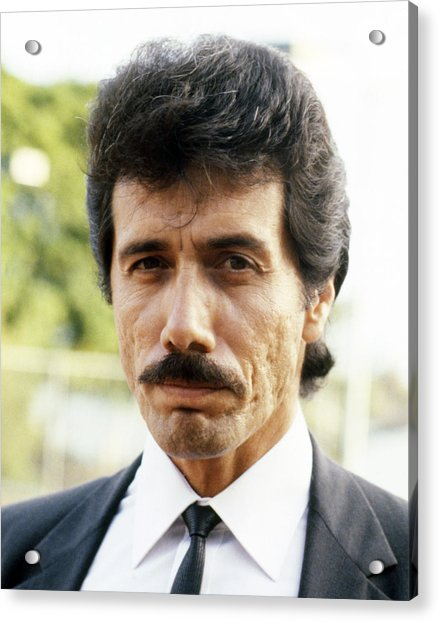 Edward James Olmos In Miami Vice  Acrylic Print by Silver Screen