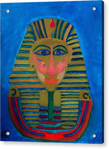 Acrylic Print featuring the painting Egypt Ancient  by Colette V Hera  Guggenheim