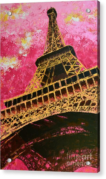 Eiffel Tower Iconic Structure Acrylic Print