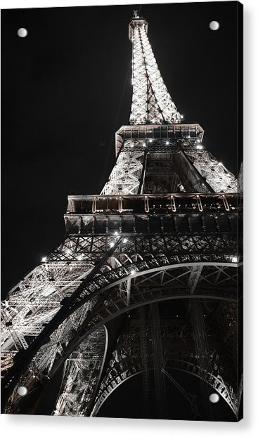 Eiffel Tower Paris France Night Lights Acrylic Print