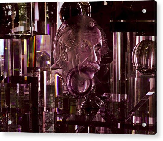 Einstein In Crystal - Purple Acrylic Print