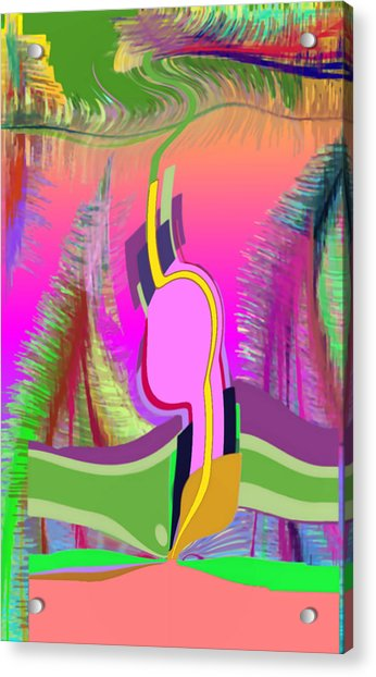 Acrylic Print featuring the digital art Ej Dance With Sne by Stephen Coenen