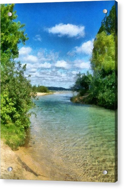 Elk River- Elk Rapids Michigan Acrylic Print