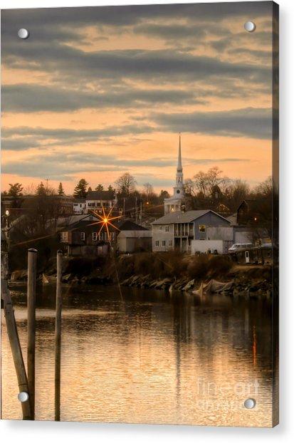 Ellsworth Sunset Acrylic Print