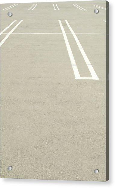 Empty Parking Lot Spaces Acrylic Print