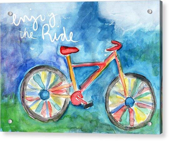 Enjoy The Ride- Colorful Bike Painting Acrylic Print