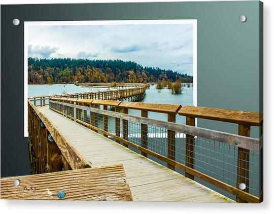 Landscape - Boardwalk - Enter Here Acrylic Print