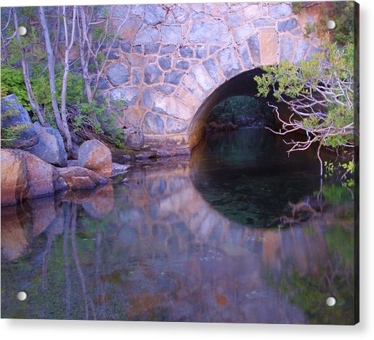 Enter The Tunnel Of Love  Acrylic Print