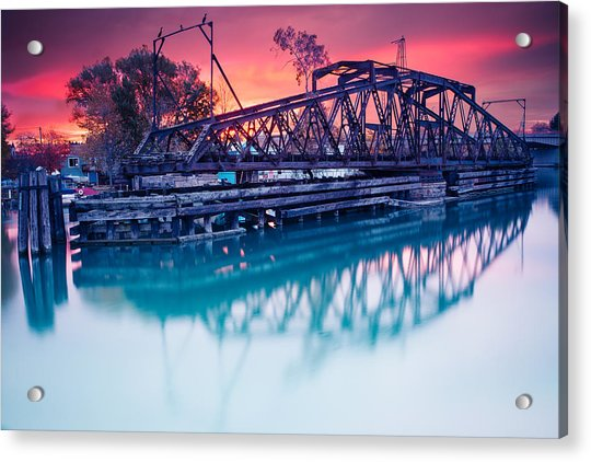 Erie Canal Swing Bridge Acrylic Print