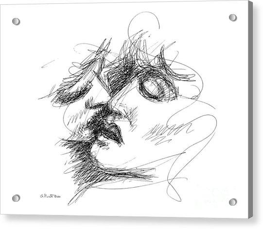 Erotic Art Drawings 15f Acrylic Print