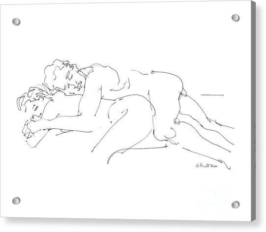 Erotic Art Drawings 2 Acrylic Print