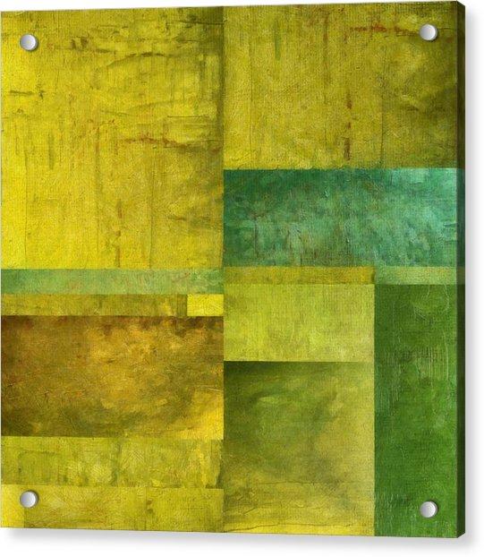 Essence Of Green Acrylic Print