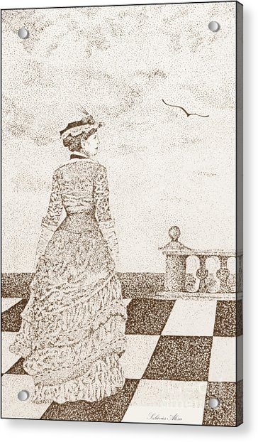 European Lady In The 19 Century Acrylic Print
