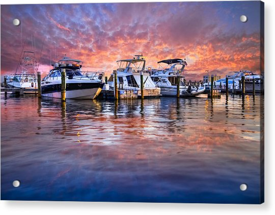 Evening Harbor Acrylic Print