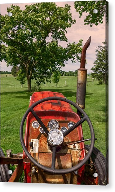 Acrylic Print featuring the photograph Ever Drive A Tractor by Garvin Hunter