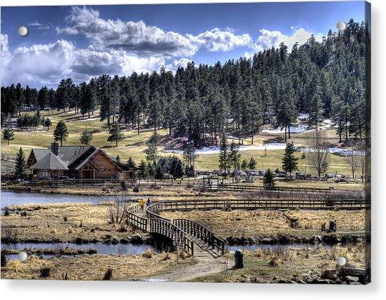 Evergreen Colorado Lakehouse Acrylic Print
