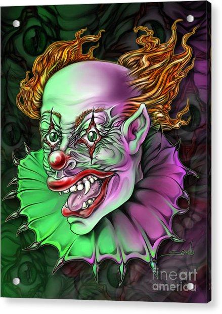 Evil Clown By Spano Acrylic Print
