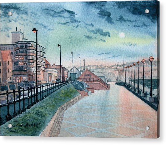 Expanse Hotel And South Promenade In Bridlington Acrylic Print