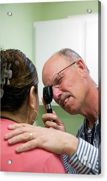 Eye Examination Acrylic Print