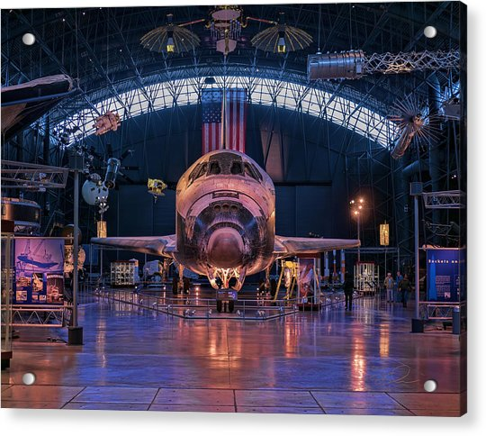 Face Of Discovery Acrylic Print