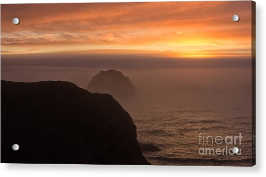 Face Out Of The Fog Acrylic Print
