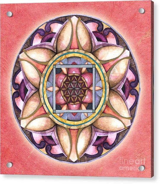 Faith Mandala Acrylic Print