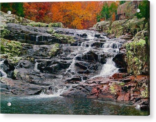 Fall At Black Falls Acrylic Print by Larry Bodinson