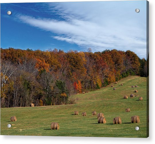 Acrylic Print featuring the photograph Fall On The Farm by Jemmy Archer