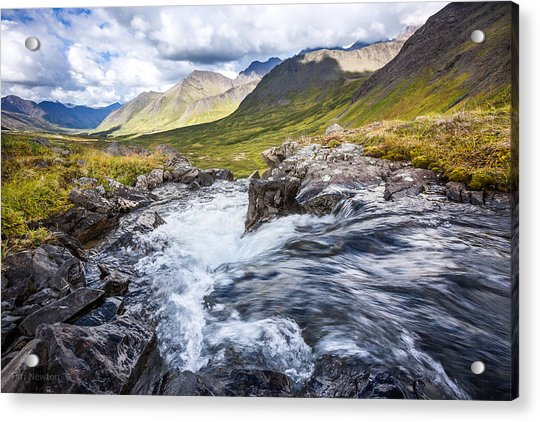Acrylic Print featuring the photograph Falls With A View by Tim Newton