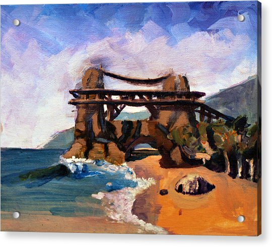 Island Beach Scenes: Fantasy Island Beach Scene Painting By Marcus Greene