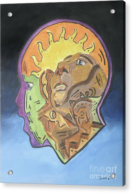 Acrylic Print featuring the painting Fear Of The Unknown by Dwayne Glapion