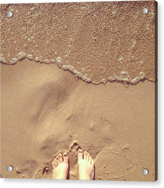 Feet On The Beach Acrylic Print