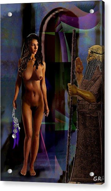 Female Nude Digital Fine Art Jean Inanna 7th Gate Acrylic Print