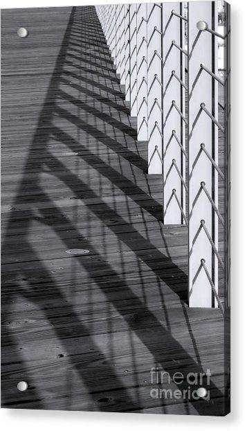 Fence And Shadows Acrylic Print