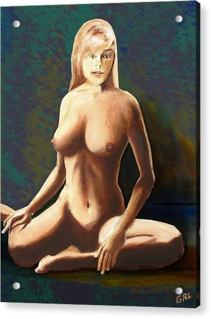 Fine Art Female Nude Jess Seated Mods2b Acrylic Print