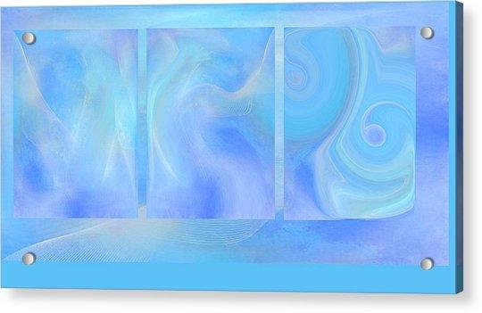 Fine Art Original Digital Abstract Untitled1bb4 As Blue Acrylic Print