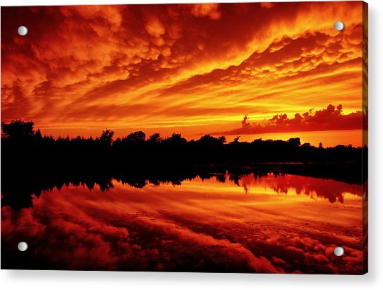 Acrylic Print featuring the photograph Fire In The Sky by Jason Politte