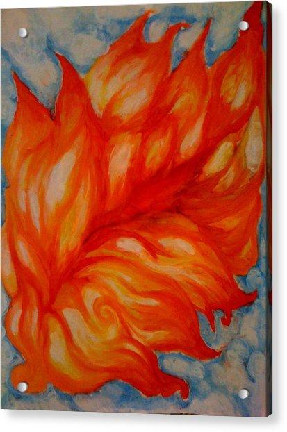 Flames Acrylic Print by Lydia Erickson